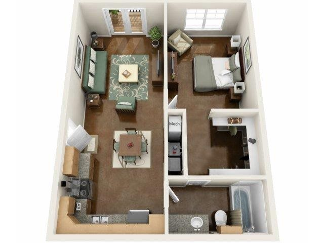 Capri Floor Plan at NorthPoint at 68, High Point, 27265