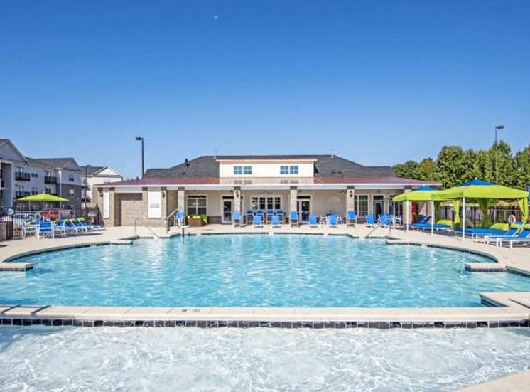 Resort-Style Zero-Entry Poolat NorthPoint at 68, High Point, 27265