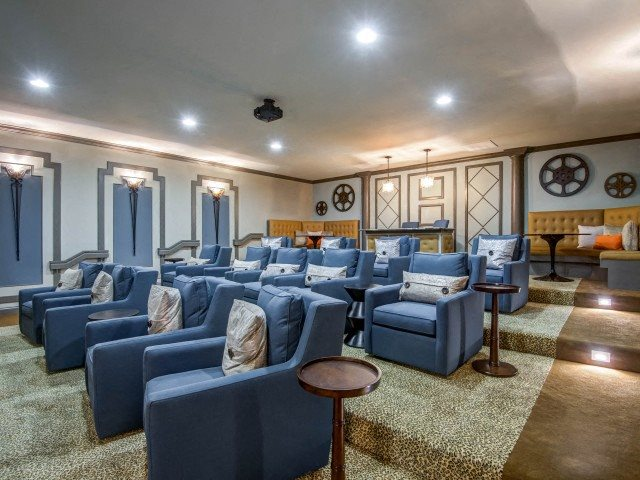 Movie Theater w- Club Seating at Bacarra Apartments, Raleigh, North Carolina