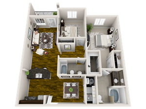 Synergy Floor Plan at Bacarra Apartments, Raleigh