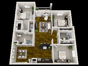 Zen Floor Plan at Bacarra Apartments, North Carolina, 27606