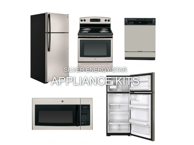 Silver-Finished Kitchen Appliances at Bacarra Apartments, Raleigh, 27606
