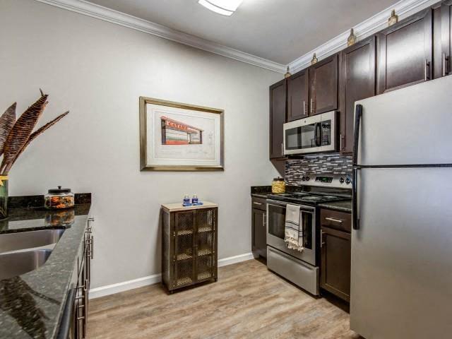 All Electric Kitchen at Bacarra Apartments, North Carolina