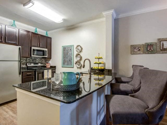 Fully Equipped Kitchen at Bacarra Apartments, Raleigh