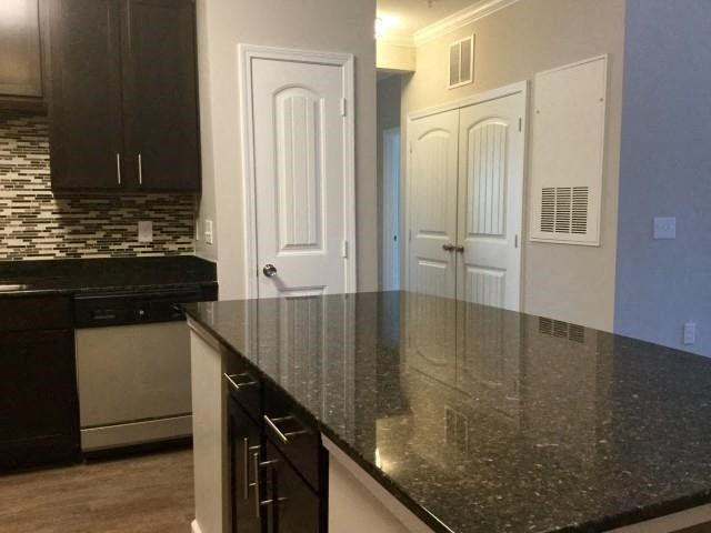 Kitchen Island at Bacarra Apartments, Raleigh, NC
