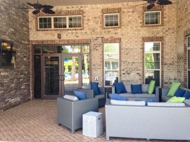 Modern Outdoor Lounge at Bacarra Apartments, Raleigh, NC