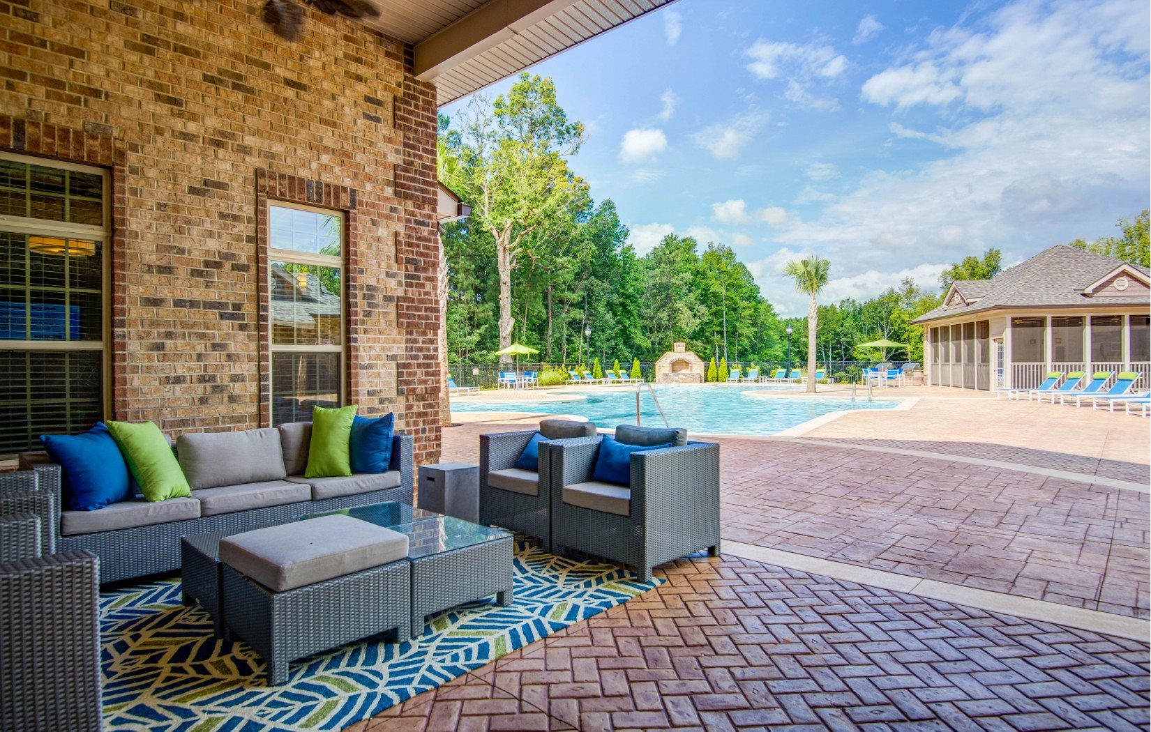 Outside Relaxation Area at Bacarra Apartments, Raleigh, 27606