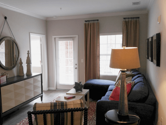 Upgraded Living Room Interiors at Bacarra Apartments, Raleigh