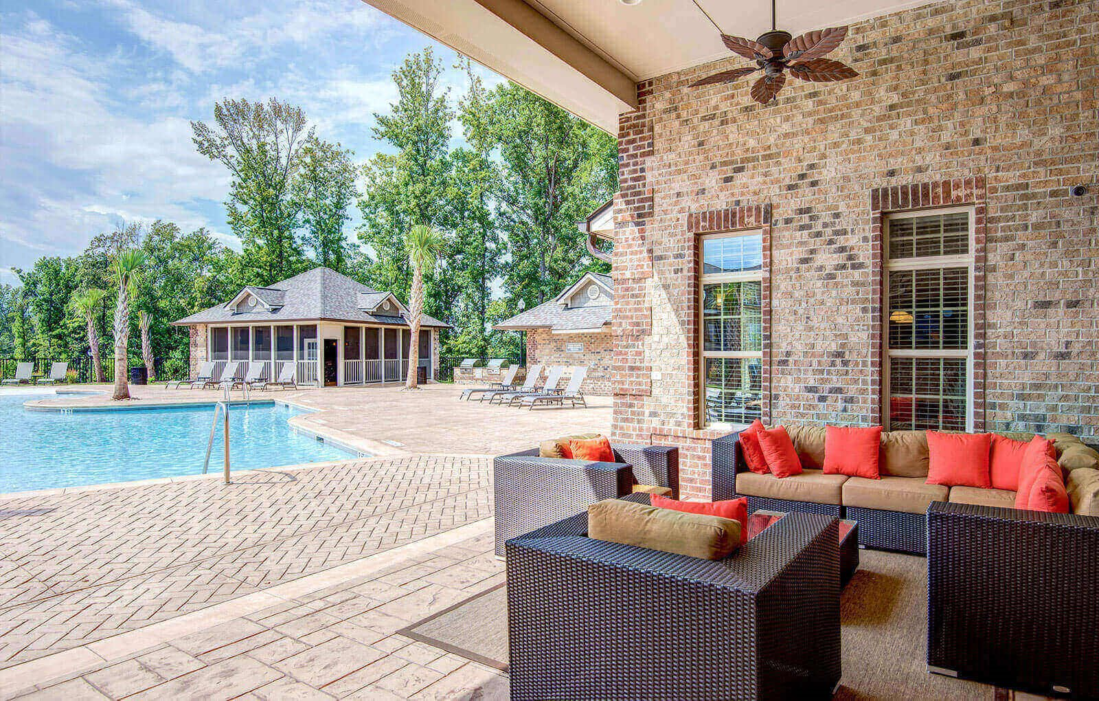 Outdoor Living Room Maystone at Wakefield Open Air Living Room