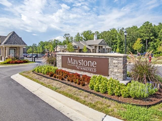 Grand Entrance Sign at Maystone at Wakefield, Raleigh, 27614