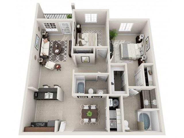 Floor plan at Village at Town Center, Raleigh, NC, 27616