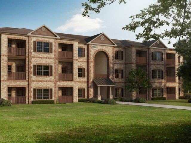 Apartment Complex Exterior With Beautiful Brick Construction at Village at Town Center, Raleigh, NC, 27616