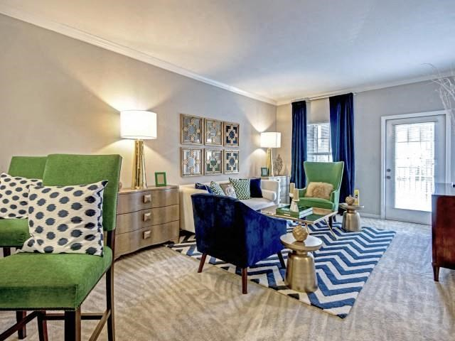 Living Rooms With Modern Lightning at Village at Town Center, Raleigh, 27616