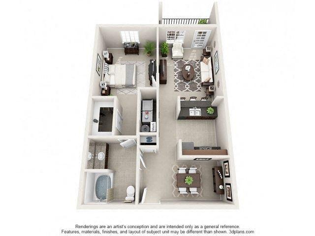 Floor plan at Glass Creek Apartments, Mt Juliet, 37122