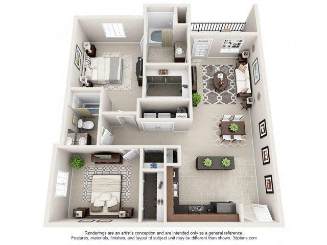 Floor plan at Glass Creek Apartments, Mt Juliet