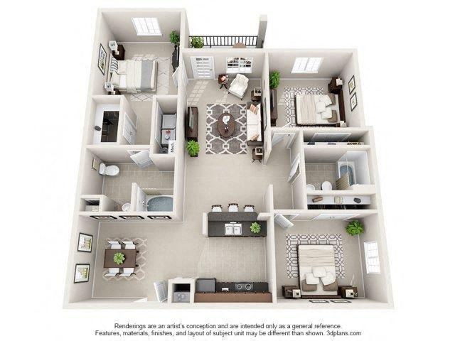Floor plan at Glass Creek Apartments, Mt Juliet, TN