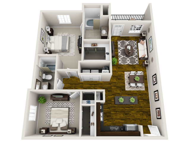 2 Bedroom 2 Bathroom Apartments Murfreesboro Tn Best House