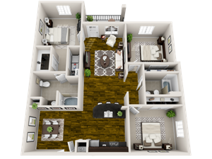 Floor plan at Heron Pointe, Nashville, Tennessee