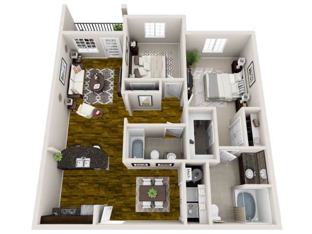 1, 2 & 3 Bedroom Apartments In Nashville, TN