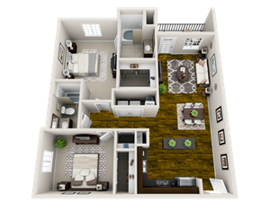 Floor plan at Heron Pointe, Nashville, TN, 37214