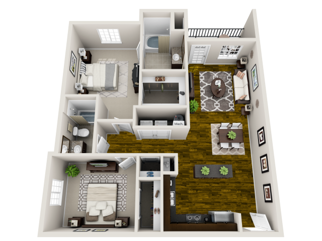 Floor plan at Heron Pointe, Nashville, TN, 37214