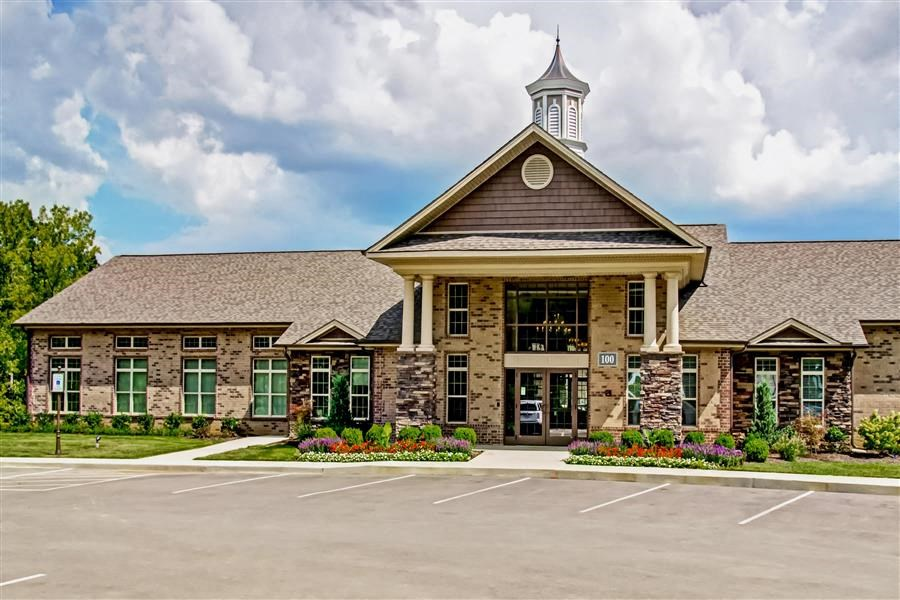 Community Clubhouse Front Entrance at Heron Pointe, Nashville, TN, 37214