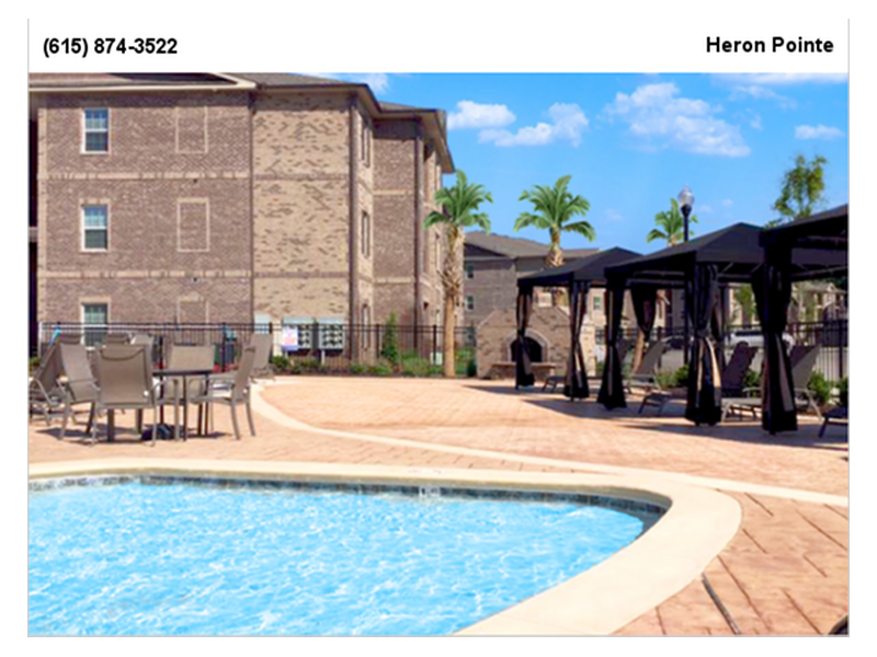 Pool Lounge at Heron Pointe, Nashville, Tennessee