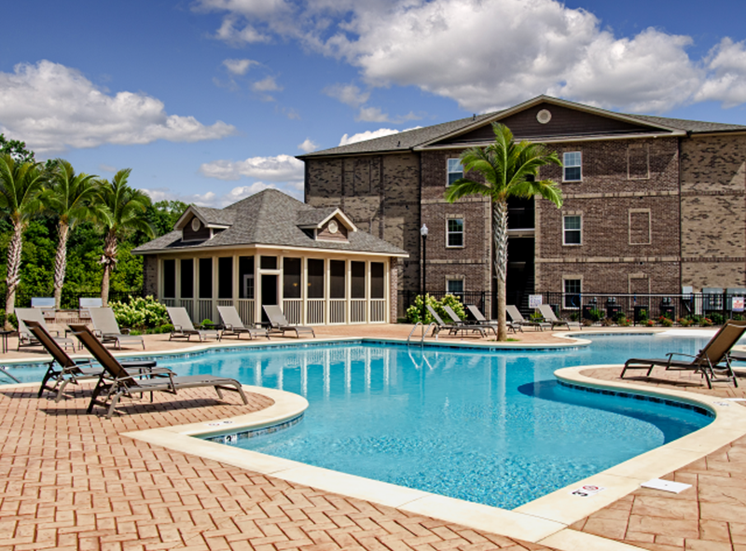 Swimming Pool With Lounge Chairs at Heron Pointe, Nashville, 37214