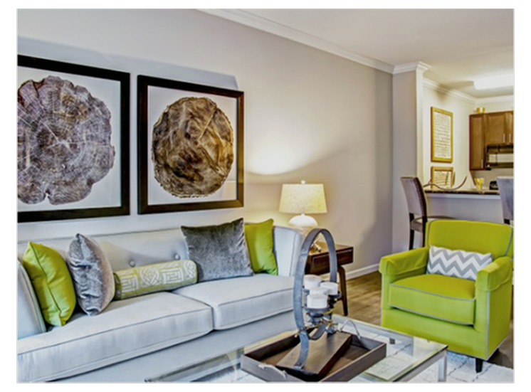 Redesigned Apartment Interior at Heron Pointe, Nashville