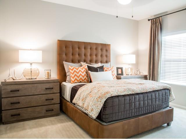Trendy Carpeted Master Bedroom at Arrington Ridge, Round Rock, 78665