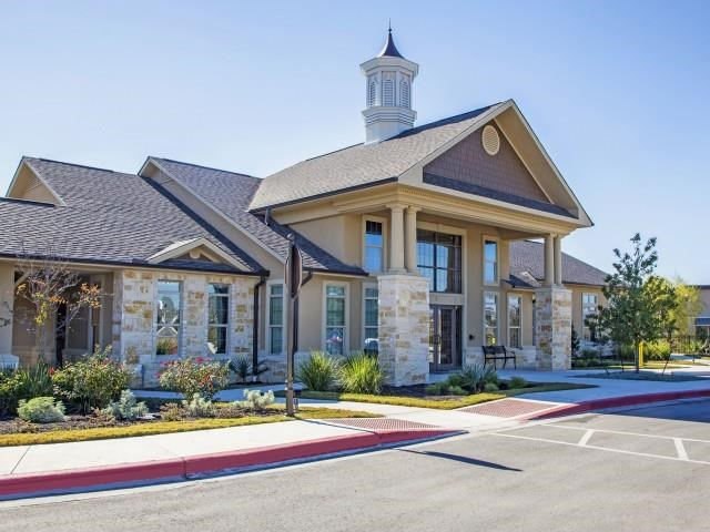 Beautiful Front Office Entrance at Arrington Ridge, Texas