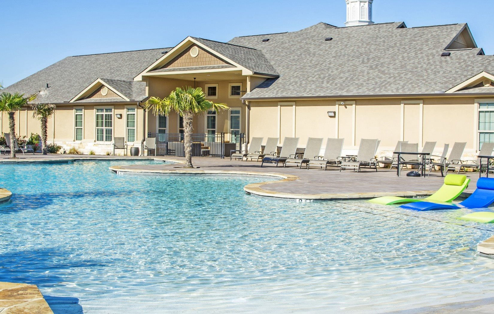 Resort-Inspired Salt Water Pool at Arrington Ridge, Round Rock, Texas