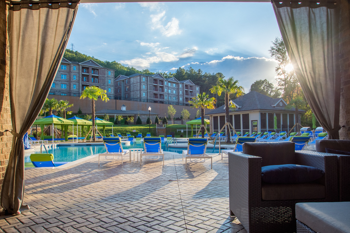 Amazing Swimming Pool View in Asheville, NC- Greymont Village Apartments