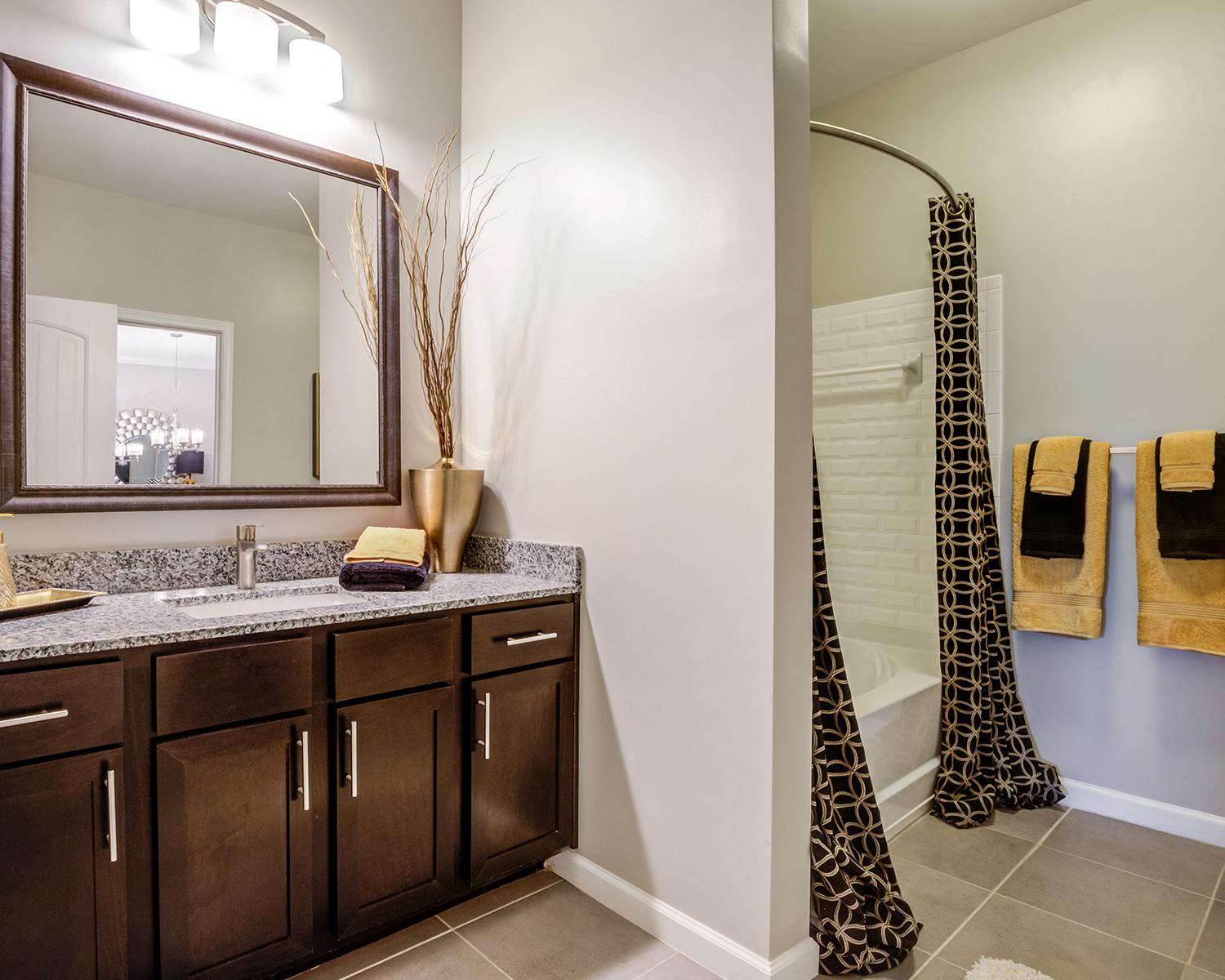 Modern Bathroom at Greymont Village Apartments