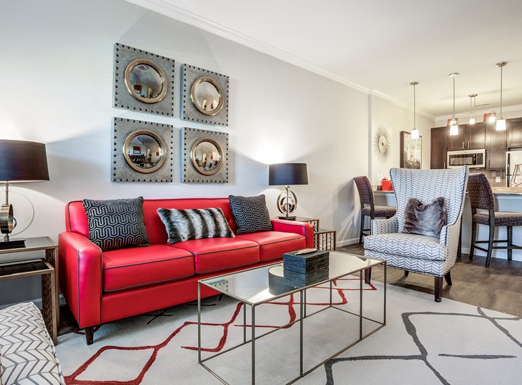 Spacious Living Area at Greymont Village Apartments