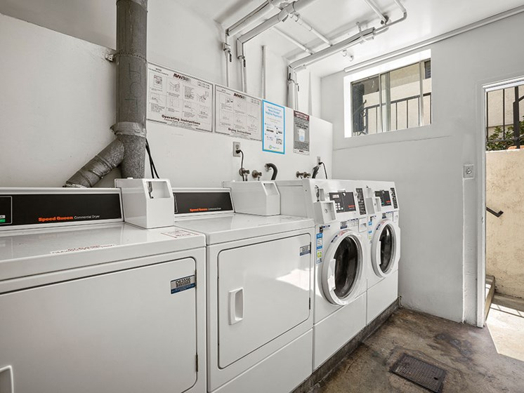 Clean and maintained laundry room at 1249 South Bundy.