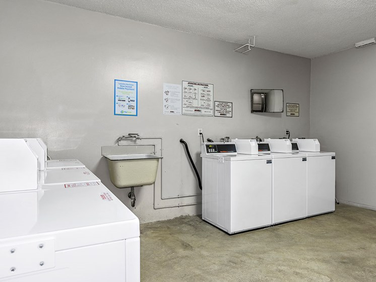 On-site laundry facility.
