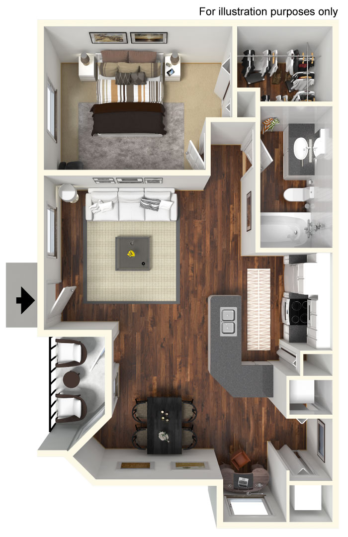 1B Floor Plan 5 Floor Plans of
