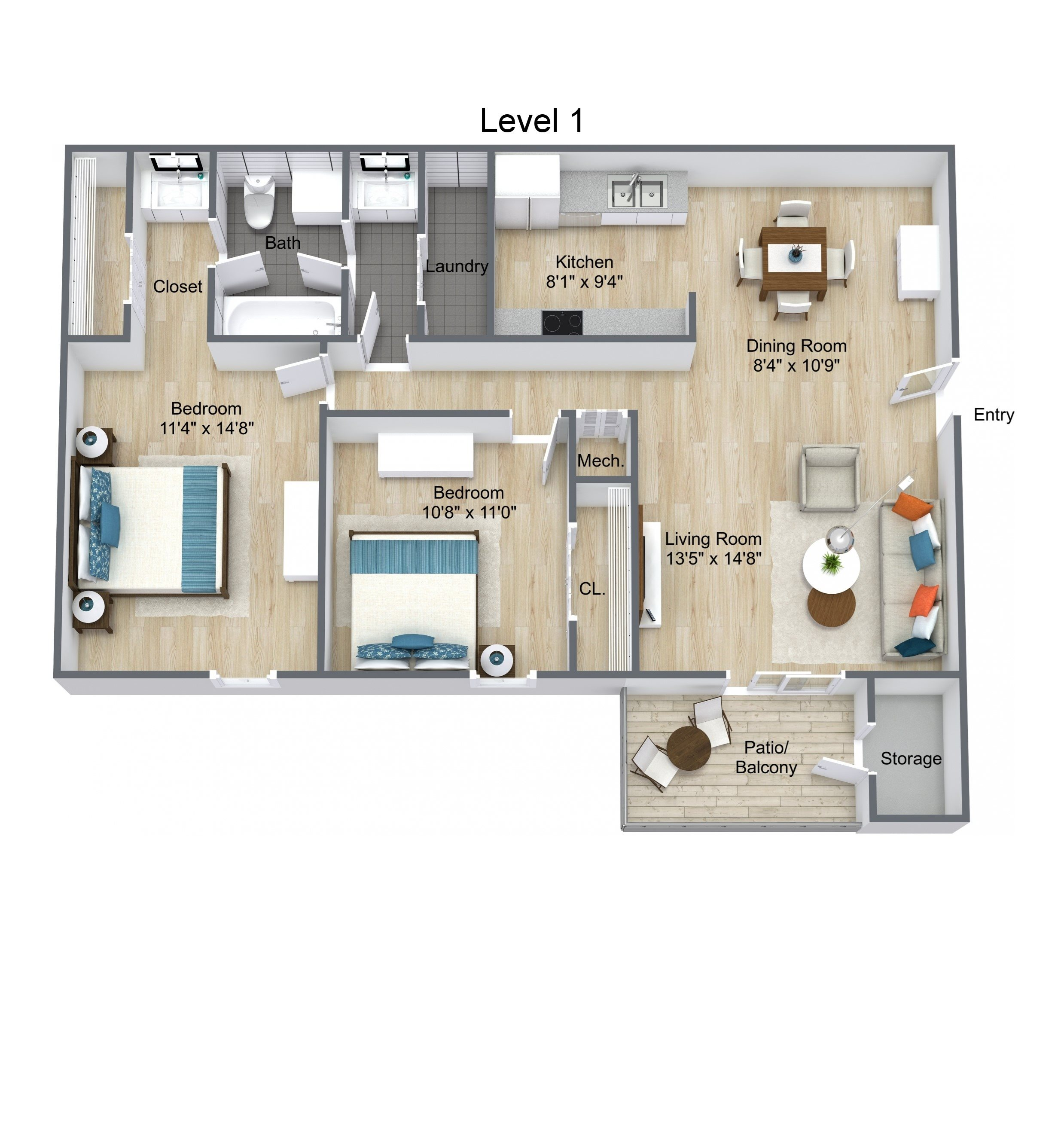 The Pine Floor Plan 2