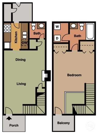 The Cottonwood Floor Plan 1