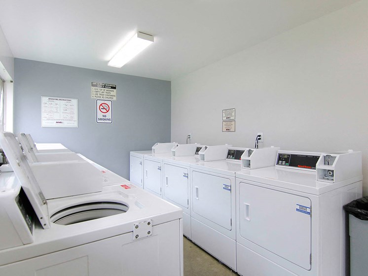 Community laundry room. Additionally, every individual private garage has their own washer and dryer hook up.