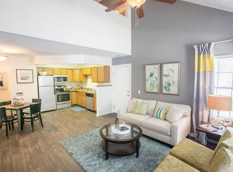vaulted ceilings  at The Village at Avon Apartments in Avon, OH