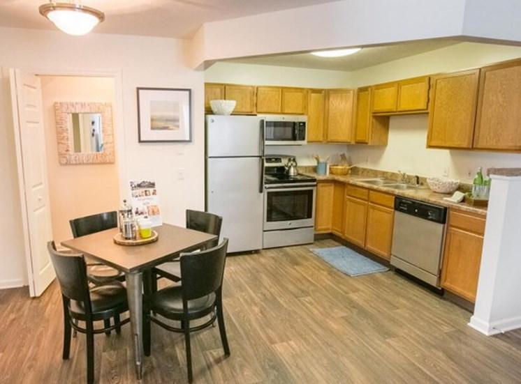open kitchen  at The Village at Avon Apartments in Avon, OH