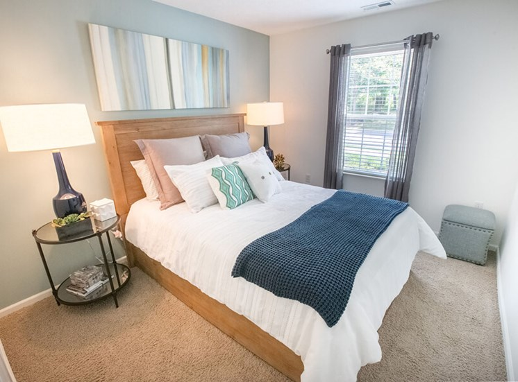 bedroom  at The Village at Avon Apartments in Avon, OH