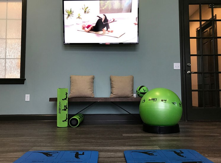 fitness studio  at The Village at Avon Apartments in Avon, OH
