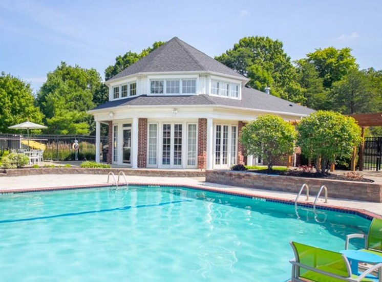 pool and cabana  at The Village at Avon Apartments in Avon, OH
