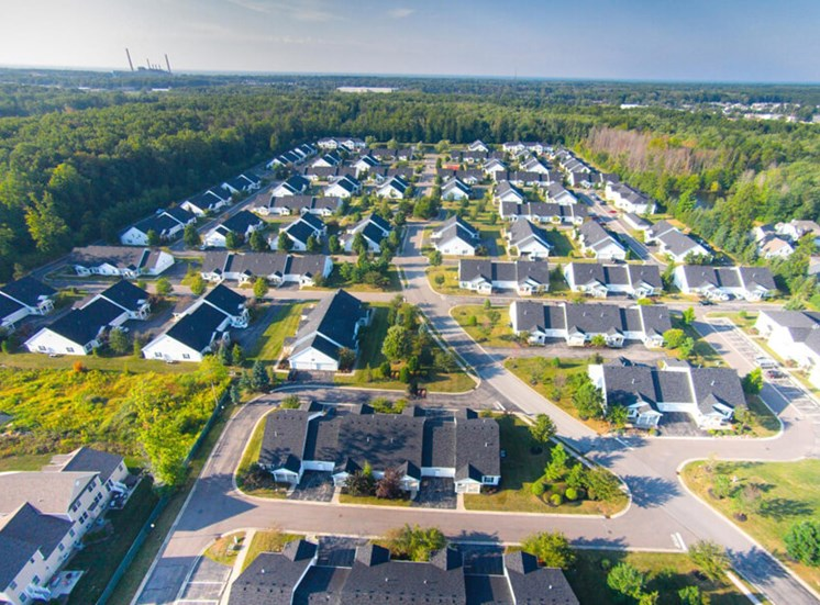 aerial view  at The Village at Avon Apartments in Avon, OH