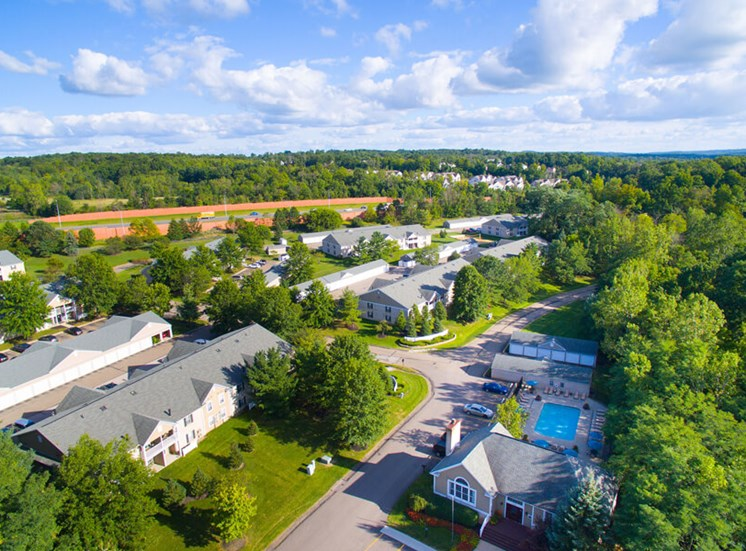 aerial view  at Mallard\'s Crossing Apartments in Medina, OH