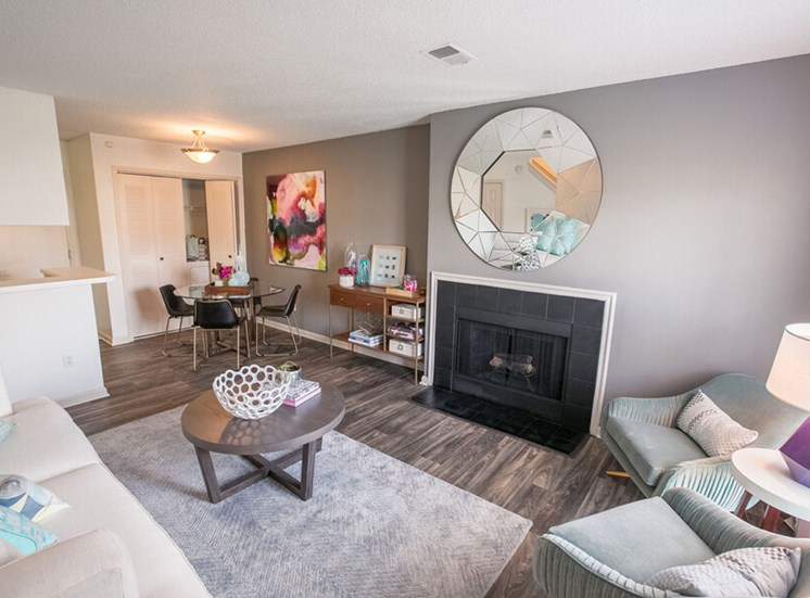 living room Williamsburg Townhomes in Sagamore Hills OH