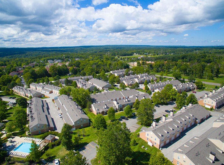 sky view Williamsburg Townhomes in Sagamore Hills OH